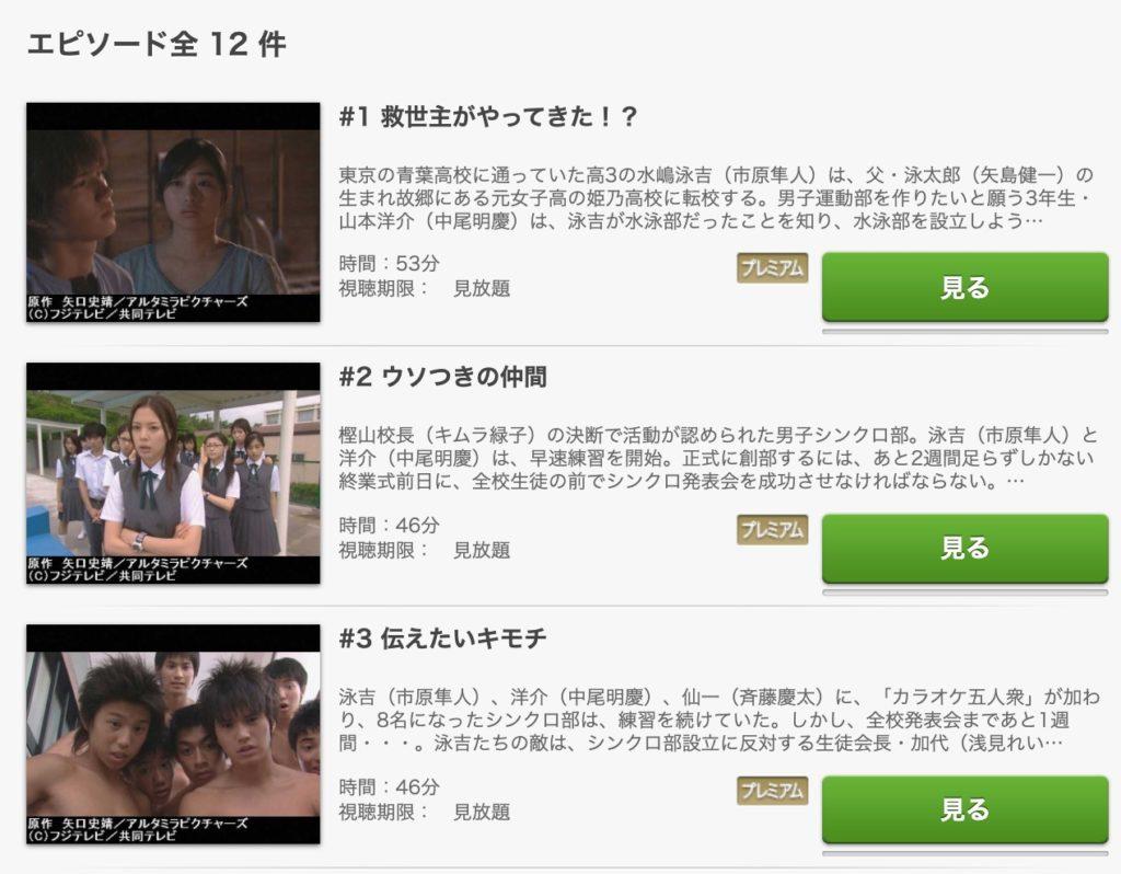 ウォーターボーイズ2 動画 FOD